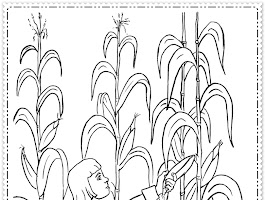 Free Corn On The Cob Coloring Pages