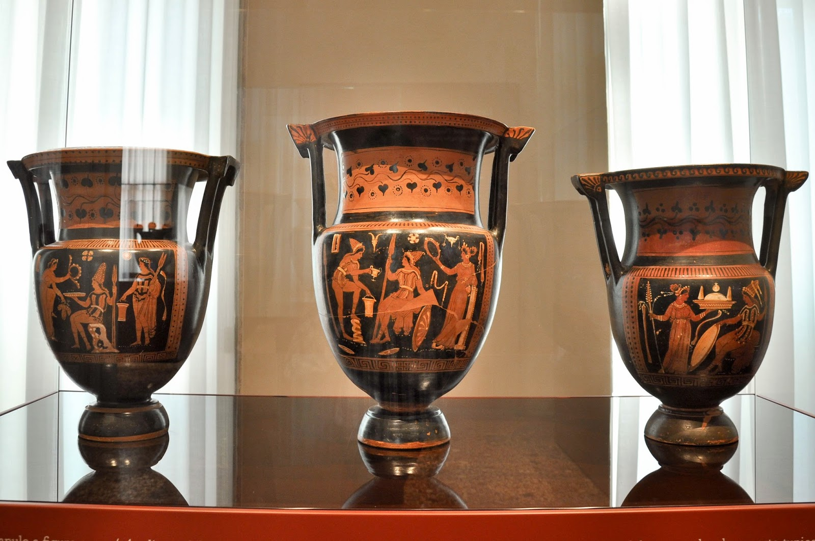 Ancient Greek  vessels in Gallerie D'Italia in Palazzo Leoni Montanari, Vicenza, Italy