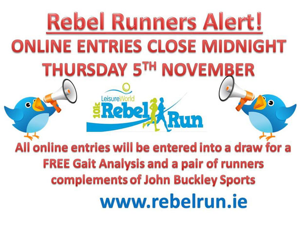 Running in Cork, Ireland: Reminder...Online entries for the Rebel ...