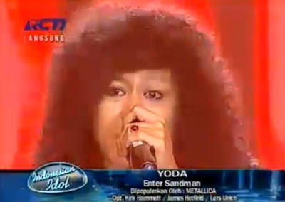 Video Yoda Enter Sandman - Indonesian Idol 23 Juni 2012
