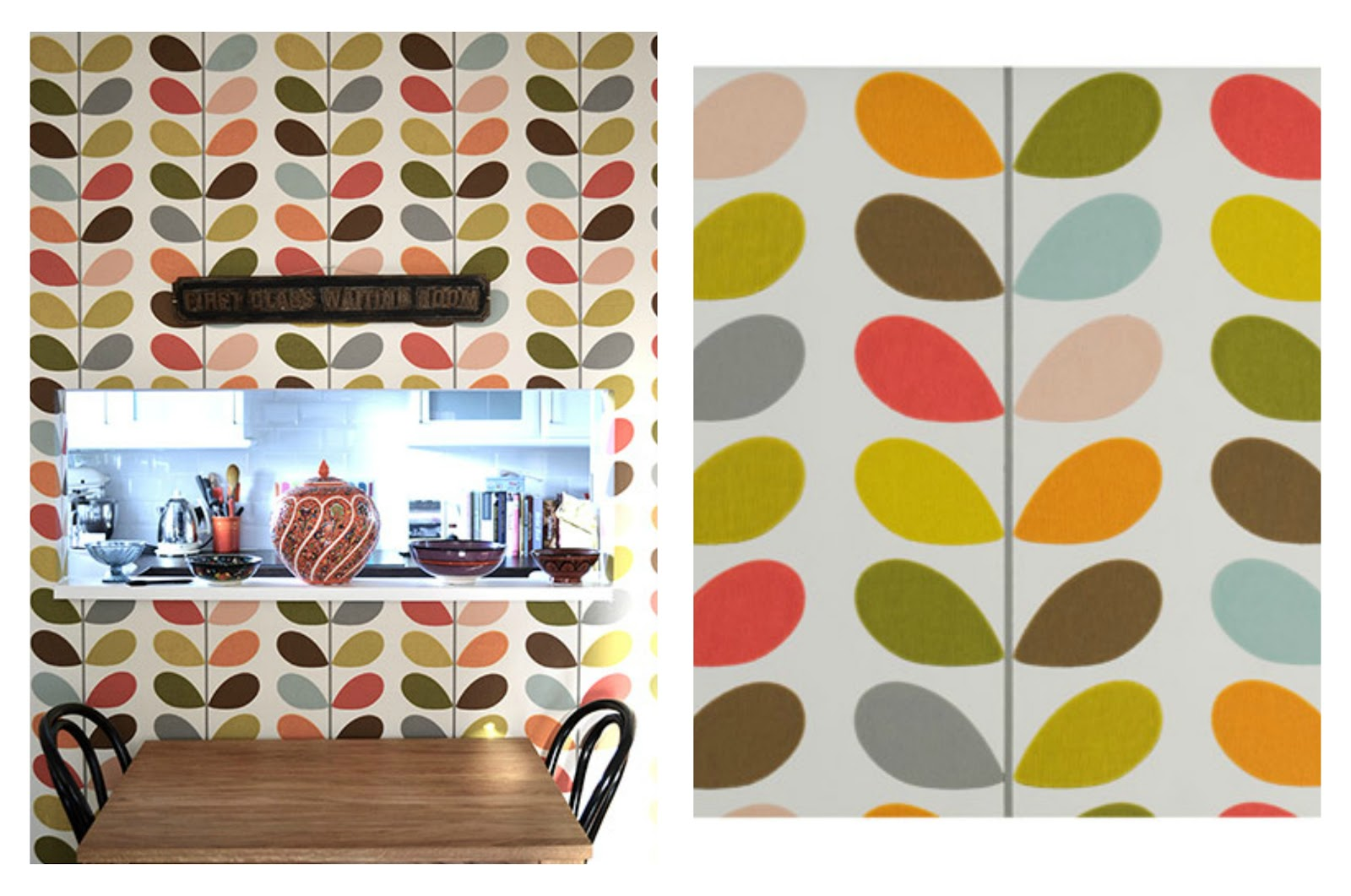 sacred and profane designs orla kiely wallpaper. Black Bedroom Furniture Sets. Home Design Ideas
