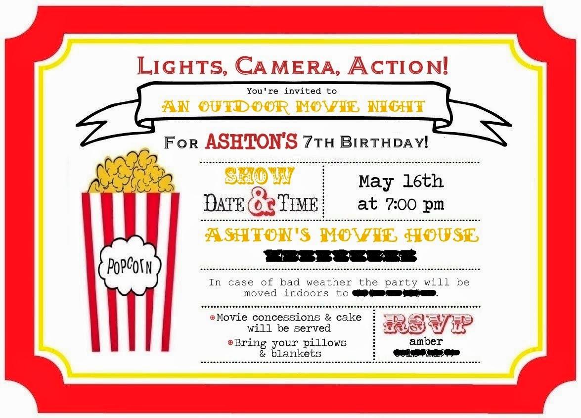 Ferguson Four: {Ashton turns 7} Outdoor Movie Night Birthday!