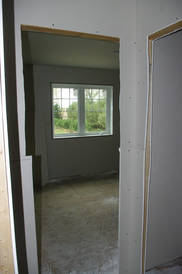 how to finish drywall around stereo and tv wires