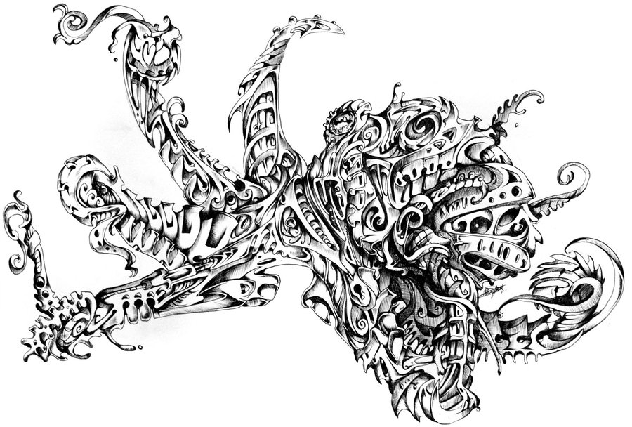 16-Octopus-René-Campbell-Art-in-Animal-Doodle-Drawings-www-designstack-co
