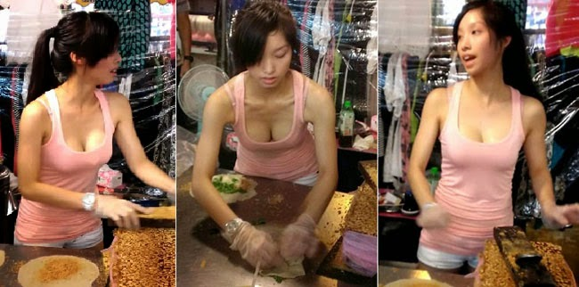 Video of Pretty Girl Making Famous Taipei Crepe Ice Cream Delicacy Goes Viral