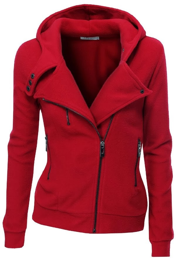 Adorable fleece zip-up hoodie with zipper point fall fashion