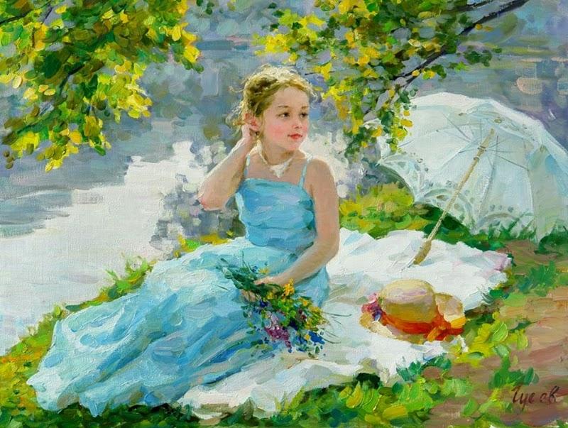 <<<<< *Solsticio de Verano* >>>>> - Página 2 %D0%92%D0%BB%D0%B0%D0%B4%D0%B8%D0%BC%D0%B8%D1%80+%D0%93%D1%83%D1%81%D0%B5%D0%B2+1957+-+Russian+Figurative+painter+-+Maher+Art+Gallery25