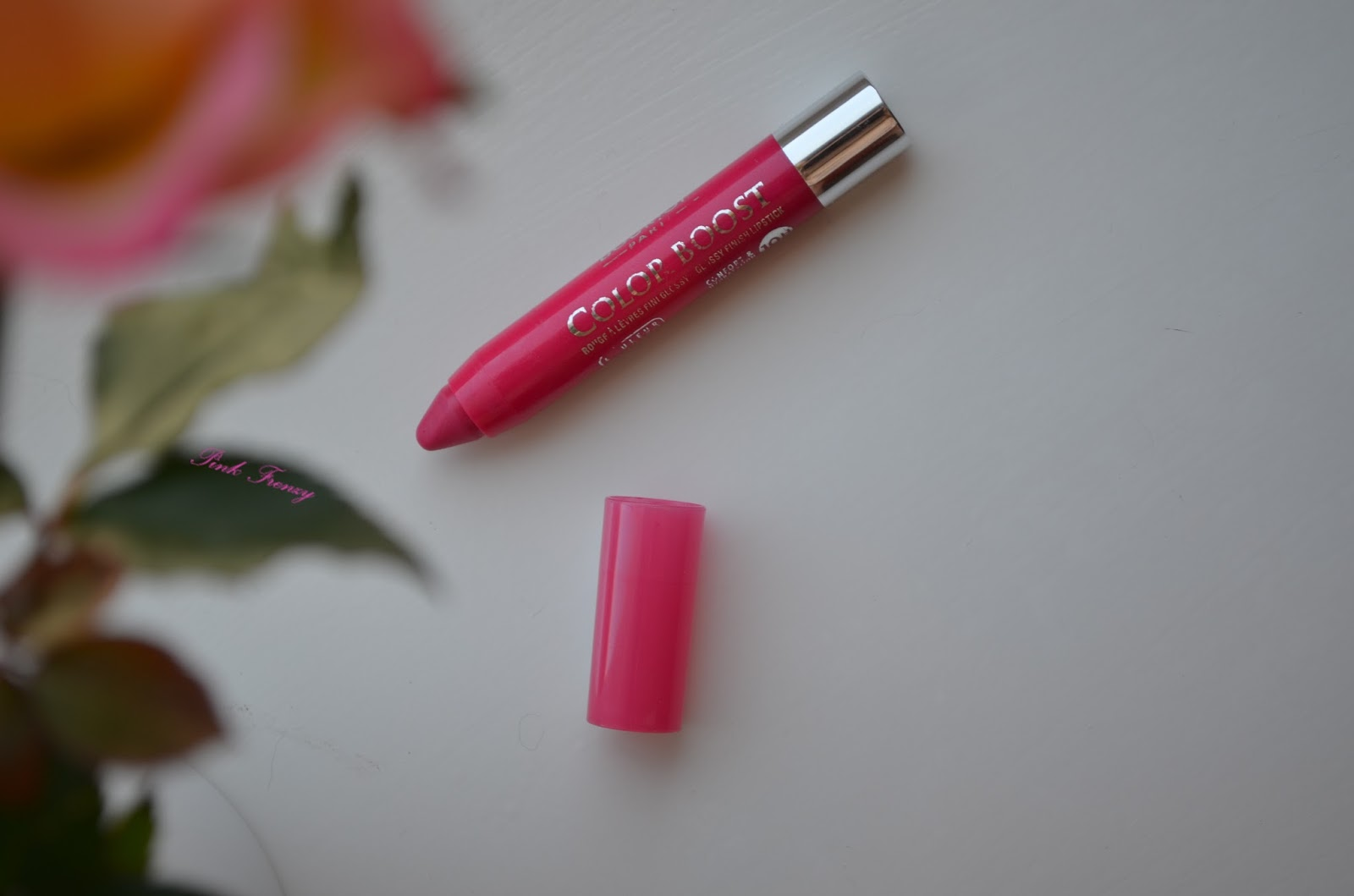 Review: Bourjois Color Boost Lip Crayon | Fuchsia Libre | ~ Pink Frenzy