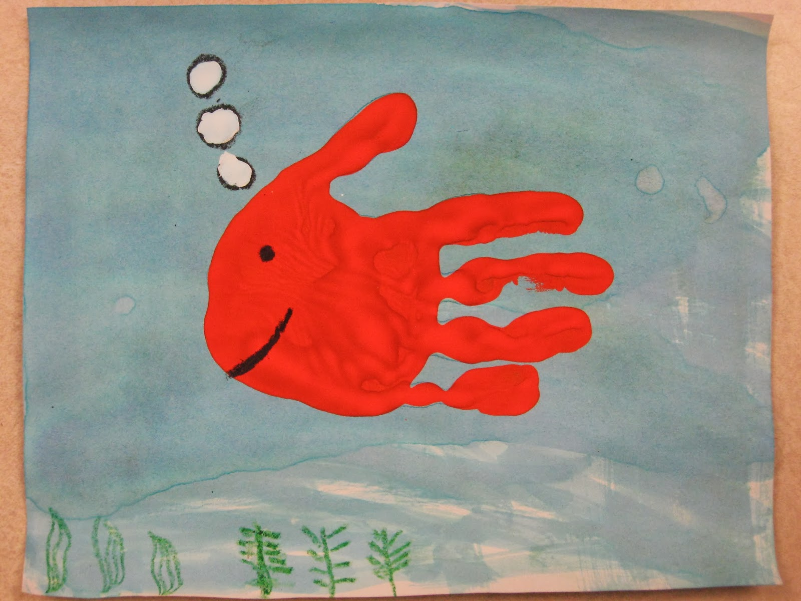Miss Young\'s Art Room: Kindergarten Hand-Print Fish