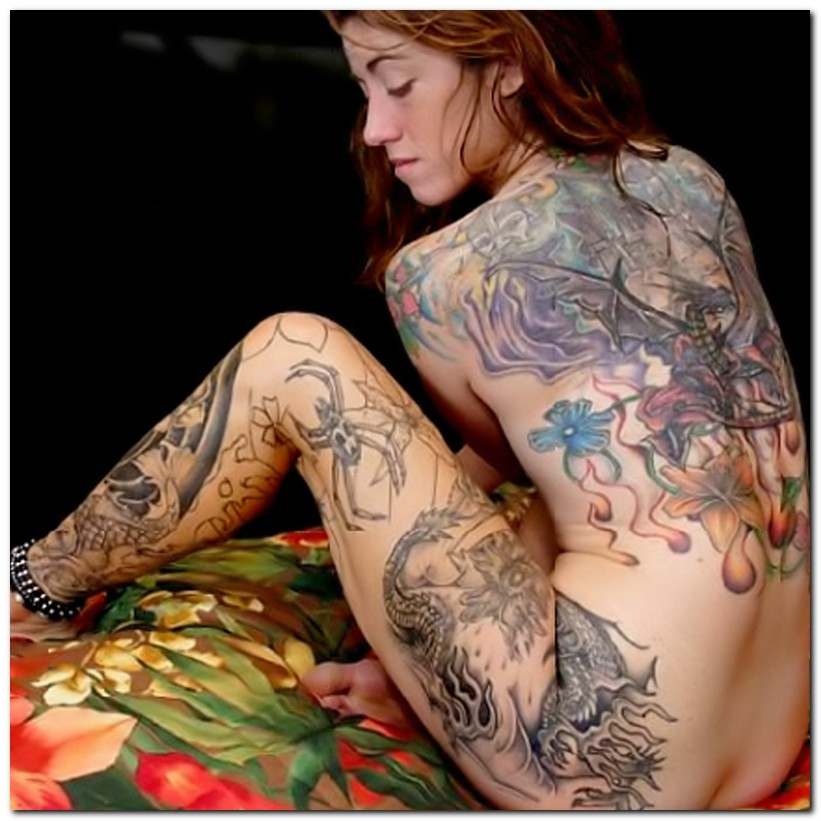 Japanese Full Body Tattoos Women