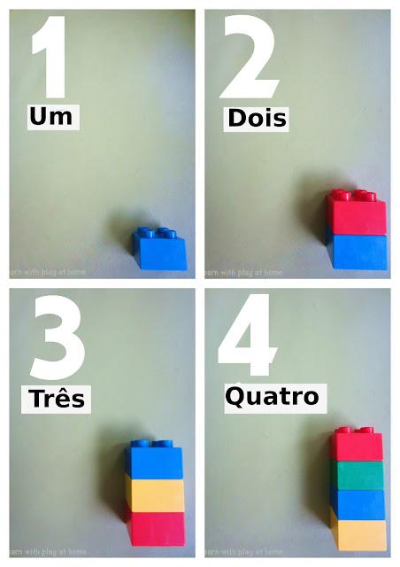 Atividade: fichas para trabalhar os numerais com o lego na Educação infantil