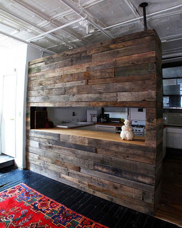 barra americana para cocina con madera reciclada