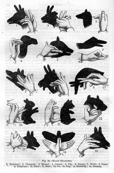 Как руками сделать тень