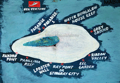 Mabul Dive Sites Map