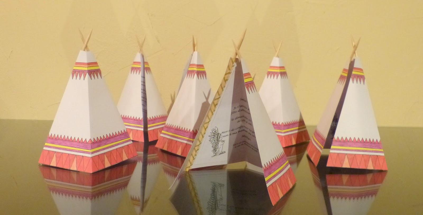 l 39 atelier des bricodouilles invitation anniversaire d 39 indiens. Black Bedroom Furniture Sets. Home Design Ideas