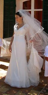 robe de mariage devant