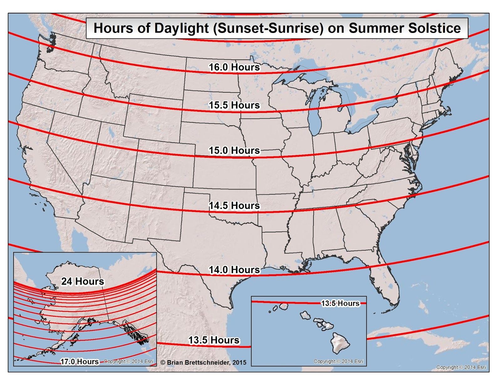 Brian Bs Climate Blog Daylight And Twilight - Us map annual hours sunshine
