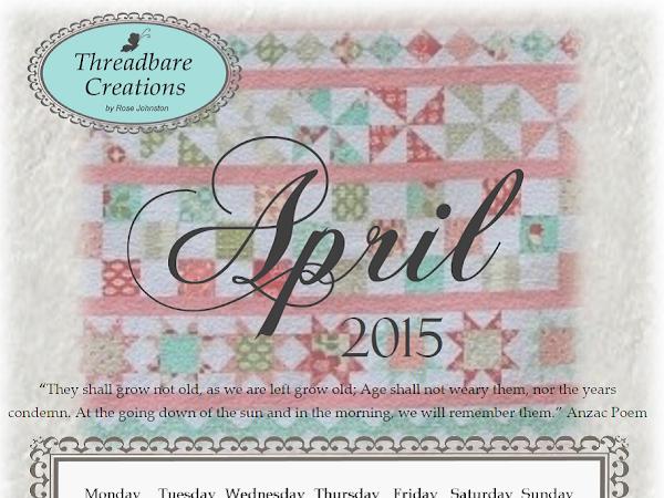 Free April 2015 Calendar