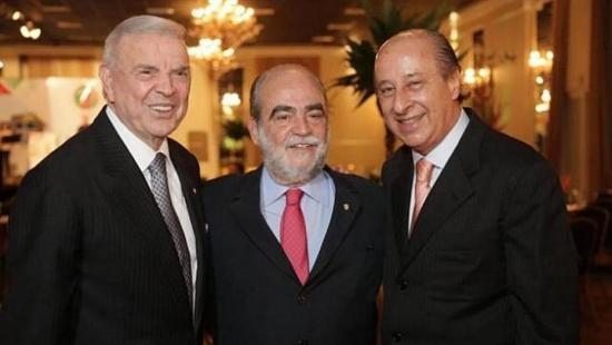 Entre Marin e Del Nero está Delfim de Pádua, vice da CBF e presidente da Federação Catarinense