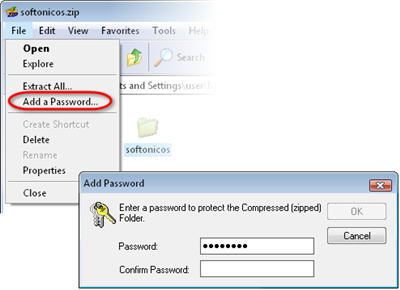 password windows 7 folder