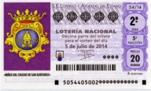 Sorteo de Lotería Nacional Niños de San Ildefonso, sábado 5 de julio.