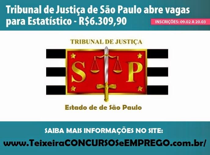 Apostila Tribunal de Justiça/SP - Estatístico - 2015.