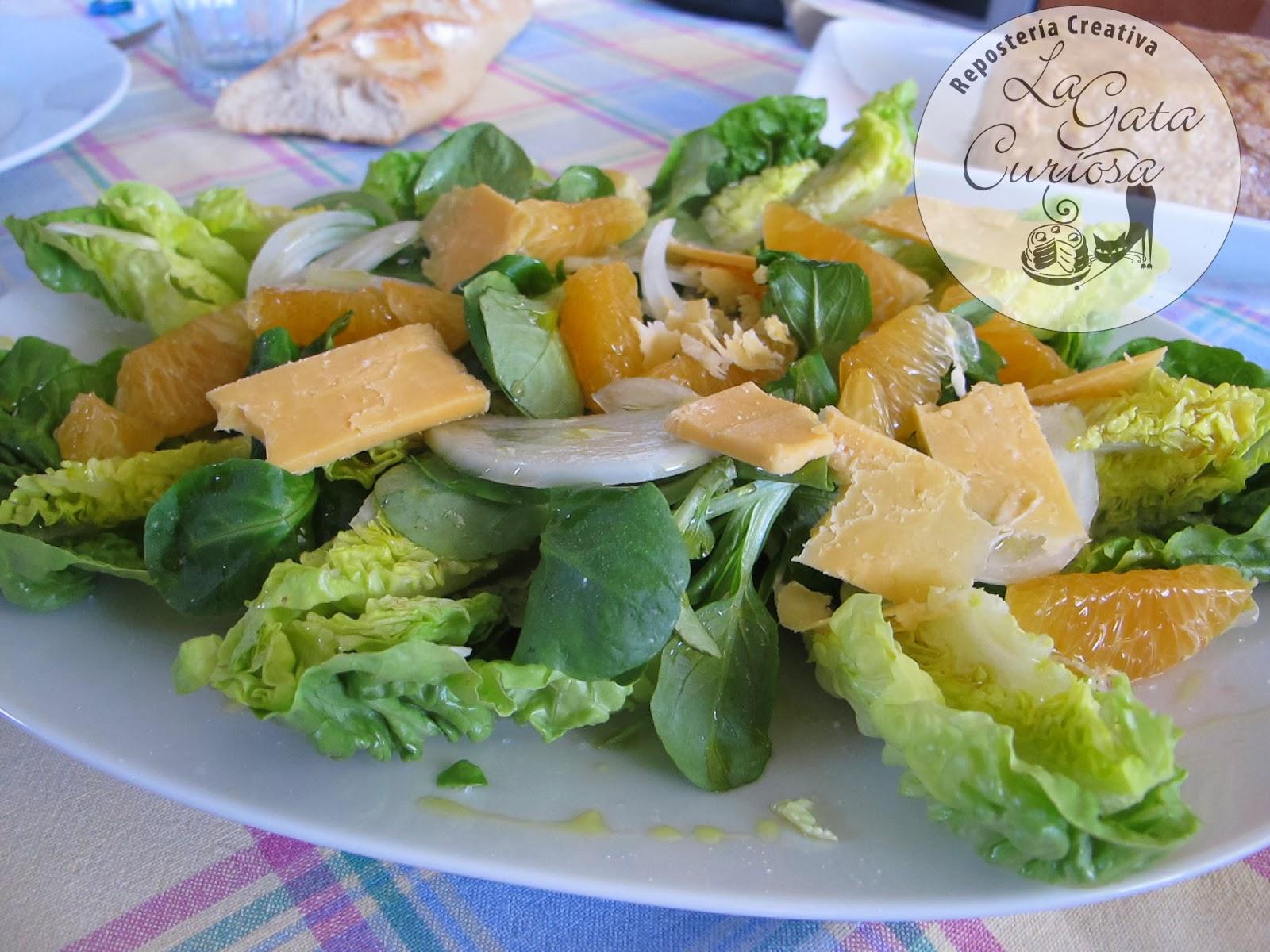 La gata curiosa ensalada de canonigos con mandarinas - Ensaladas con canonigos ...