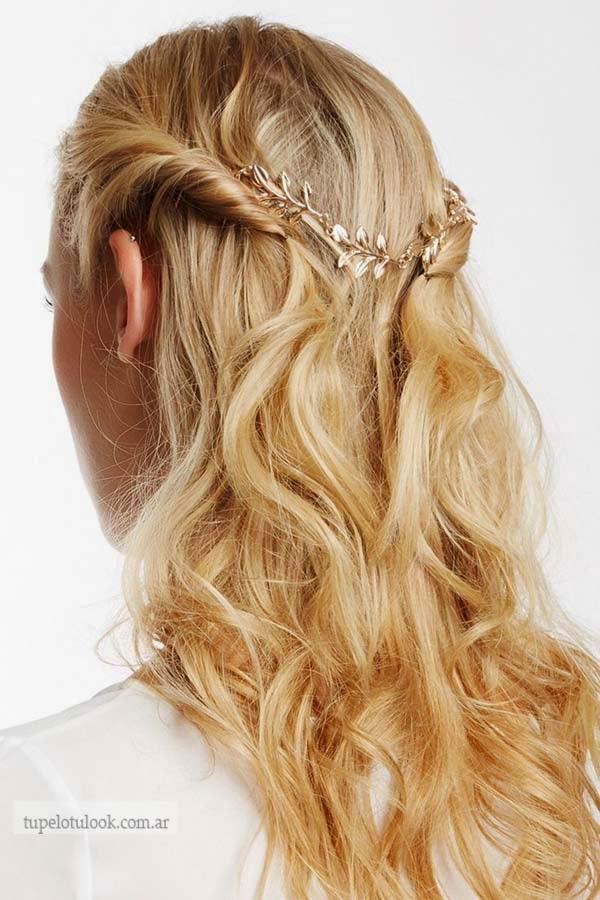 peinados semi recogidos 2015_