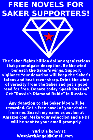 Free Novels (PDF) for Saker Blog Supporters