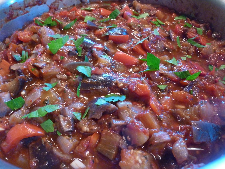Pasta With Eggplant, Portobella, And Tomatoes Recipes — Dishmaps