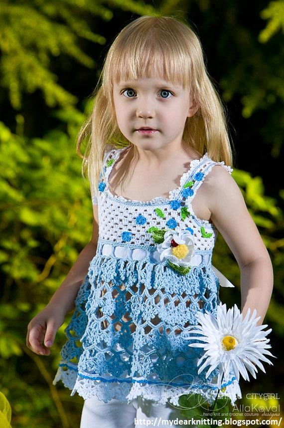 крючком платья для девочки