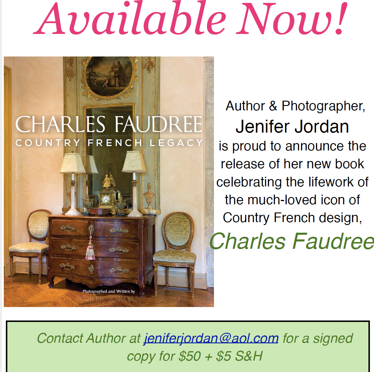 CHARLES FAUDREE:  NEW BOOK