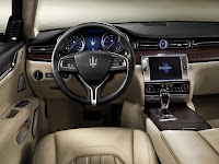 The new Maserati Quattroporte 2013 dash