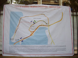 """Mumbai 2011 cyclothon race-circuit "" route map."