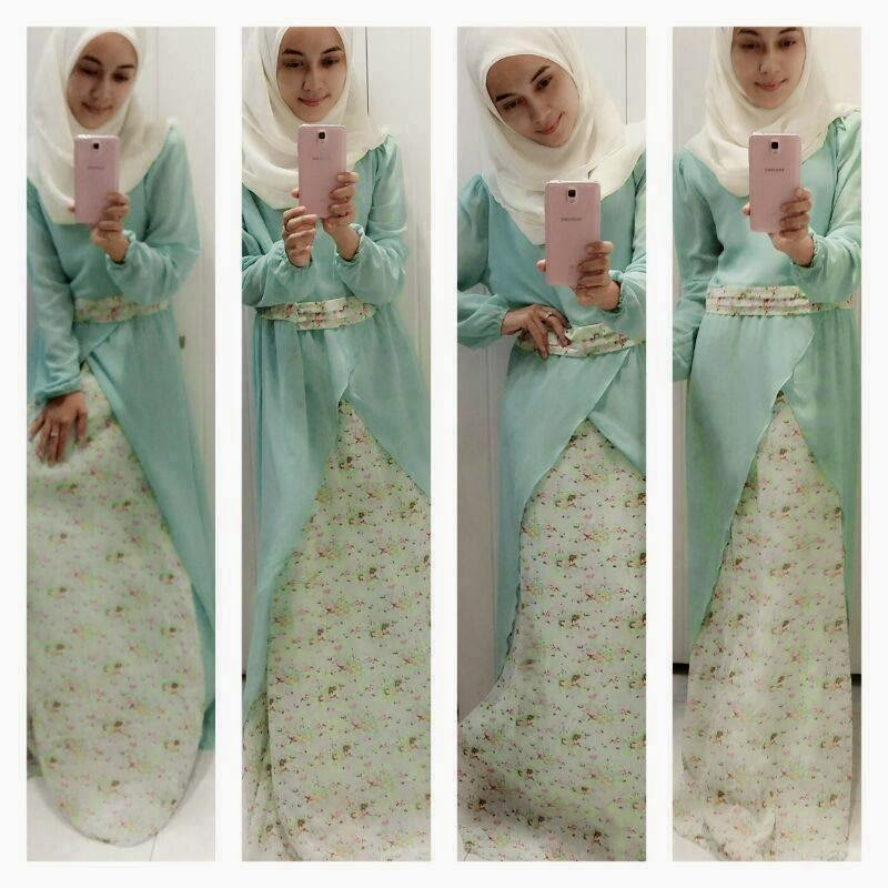 Re-stock Flower Dress Ada Color Pink, Cream & Turquoise. Dress Terhangat Pada Masa Kini