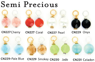 semi precious gemstone charms