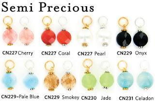 semi precious gemstone charms