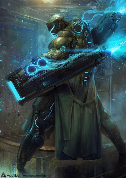 Bjorn Hurri ilustrações artes conceituais fantasia games Applibot - Frostmaster Advanced