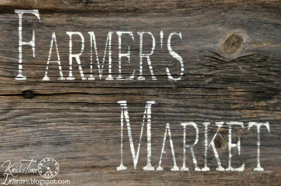 Barn Wood Farmer's Market Sign by KnickofTimeInteriors.blogspot.com