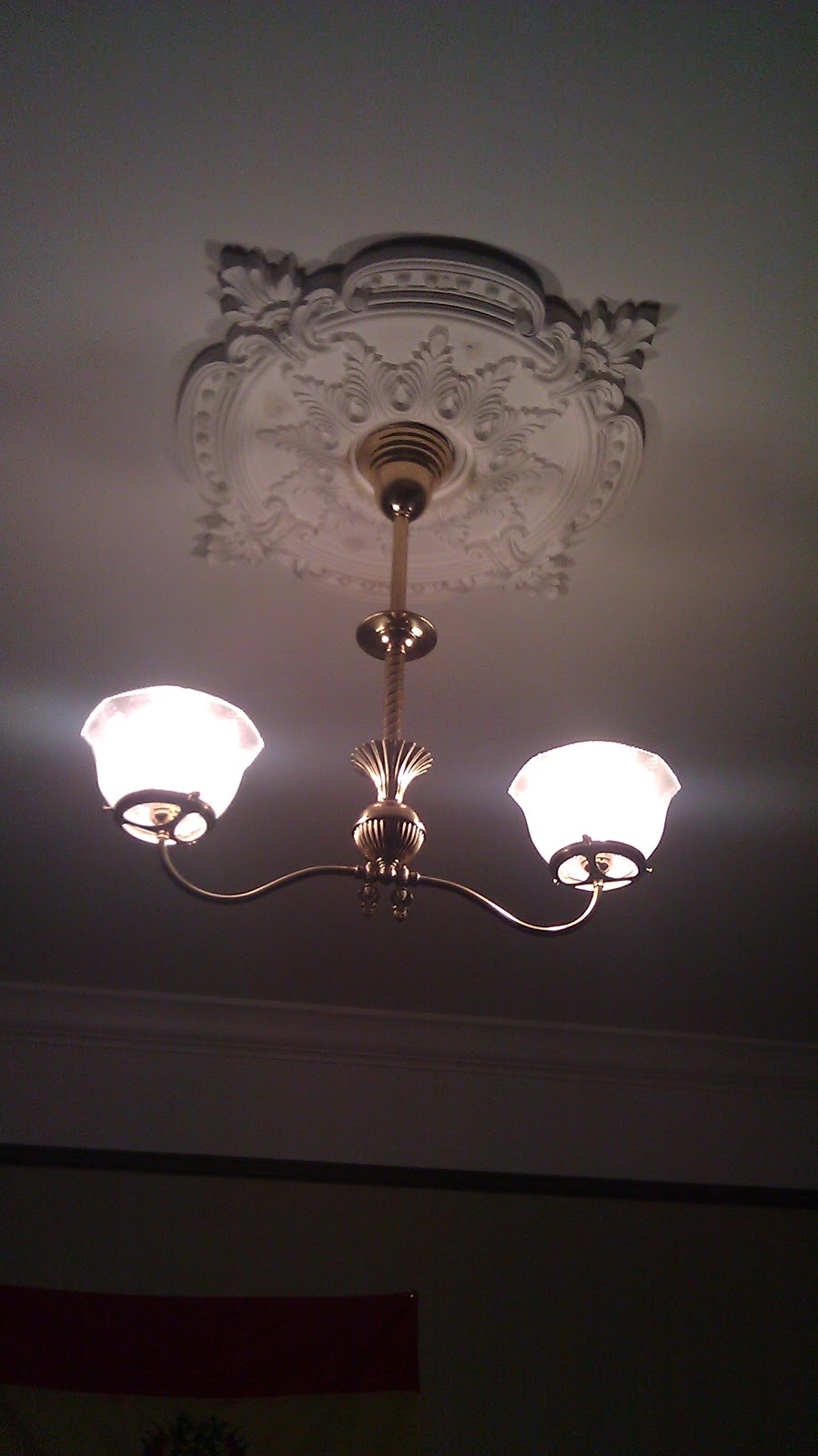 Here is one for the master bedroom simple but gives generous light and a good look i think i like this medallion better than the other one because its