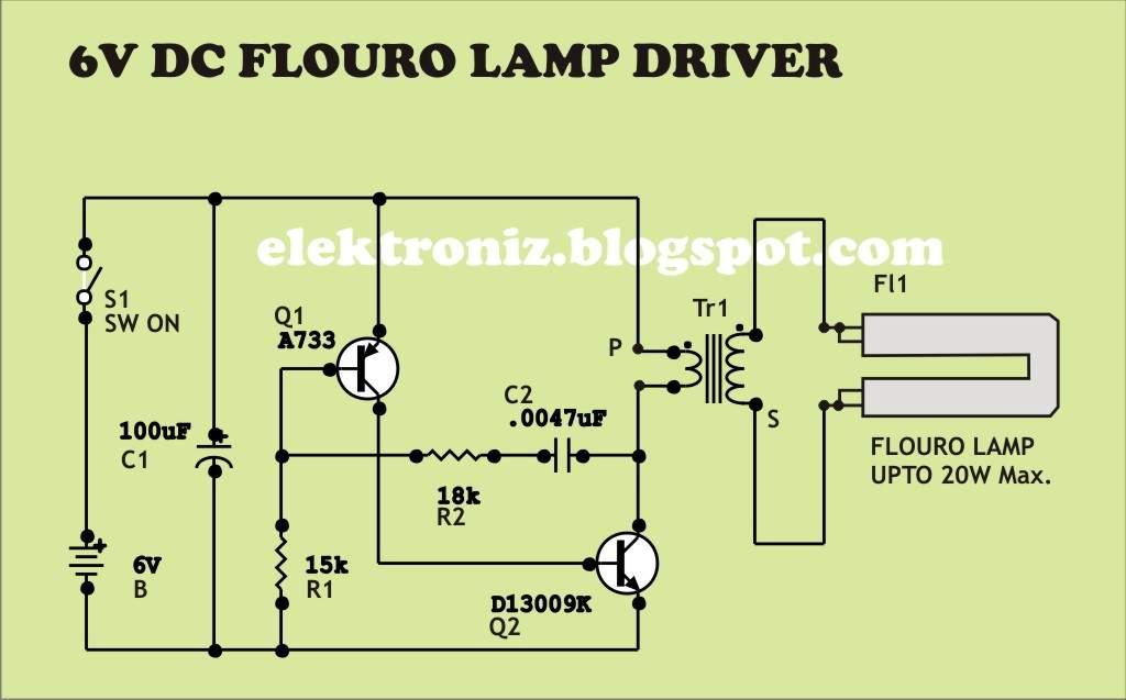 6 Vdc Fl Lamp Driver Circuit