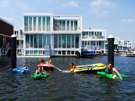 Design Do Futuro Uma Cidade De Casas Flutuantes Na Holanda