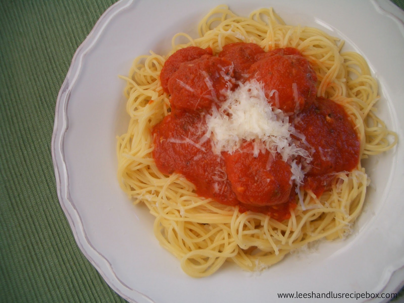 Spaghetti & Meatballs | Leesh & Lu's Recipe  Box