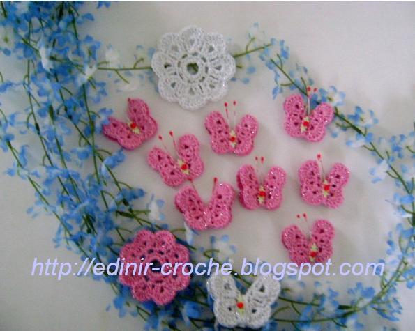 borboletas e mariposas em croche com edinir-croche dvd video-aulas blog loja  frete gratis