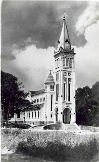 Old Photo of the Cathedral of Da Lat