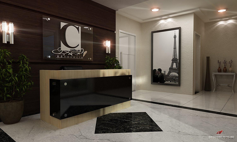 Arquitetura e Interiores: Recepção Advocacia #B41A17 1500x900