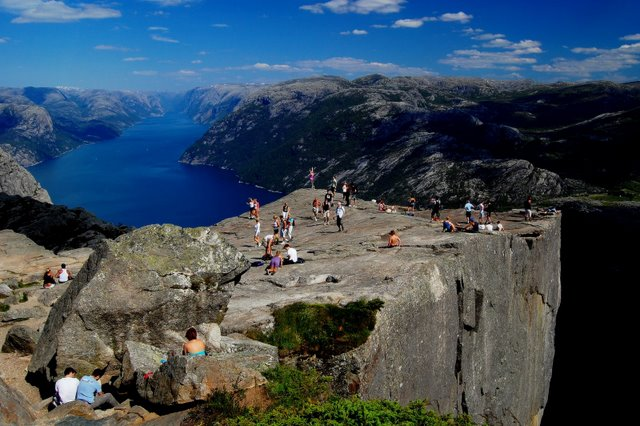 Preikestolen Norway summer