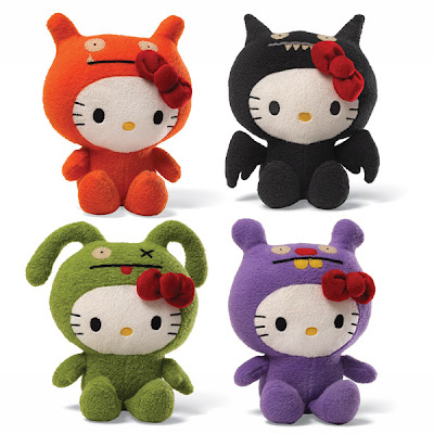 SDCC 13 Exclusive Hello Kitty Uglydoll Plush - Hello Kitty as OX, Trunko, Ice-Bat & Wage