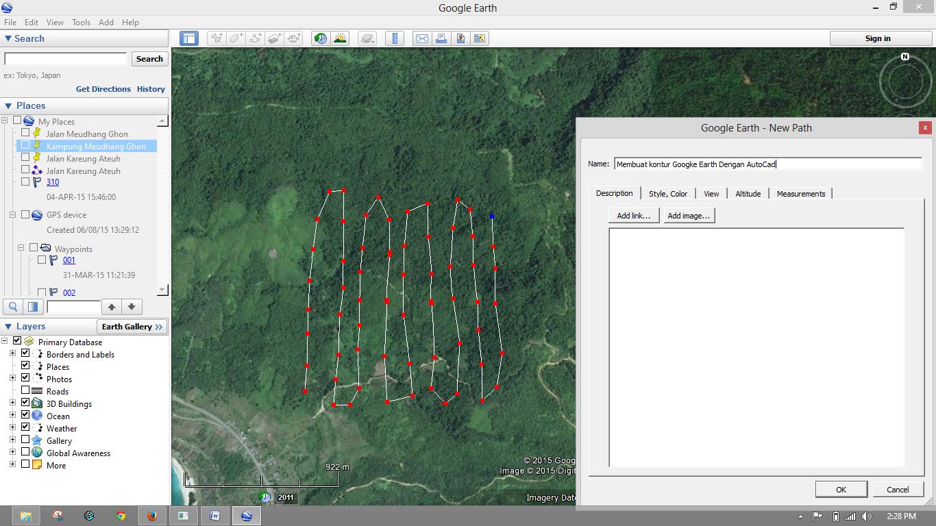 Membuat Kontur Google Earth Dengan Autocad Cad Of Autocad