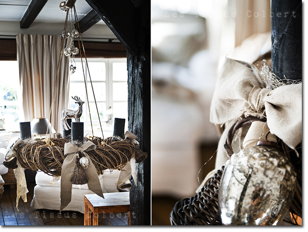 decorando o natal a delicadeza nas cores prata branco. Black Bedroom Furniture Sets. Home Design Ideas